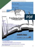 David D Burns Author Feeling Good the New Mood Tr