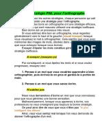 PNL - La Stratégie PNL Pour l'Orthographe