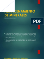 Almacenamiento de Minerales