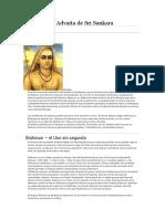 Sankara - La Filosofía Advaita de Sri Sankara