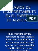 Cambios de Comportamiento en enfermos de Alzheimer.ppt