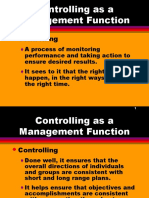Managerial Control Functions