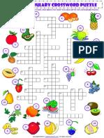 food fruit vocabulary criss cross crossword puzzle worksheet.pdf
