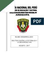 Silabo Desarrollado DCF, SV y Tránsito