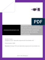 CU00632B Imprimir Por Consola en Java System Out Concatenar Cadenas