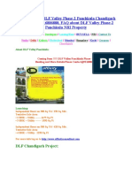 DLF Panchkula Valley Project Booking Process@9216886888