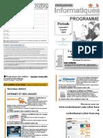 Programme Septembre Octobre2010