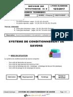 Devoir de Synthèse N°2 - Génie mécanique - Systéme de conditionnement de savons - 3ème Technique (2016-2017) Mr Mlaouhi Slaheddine.pdf