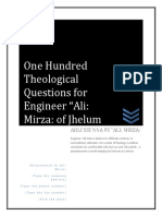 One Hundred Theological Questions for Ali Mirza
