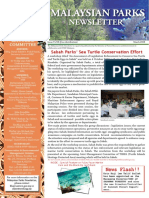 Malaysian Parks Newsletter Issue 1 March 2008