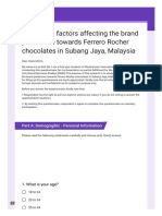A Study on Factors Affecting the Brand Preference Towards Ferrero Rocher Chocolates in Subang Jaya, Malaysia
