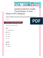 Factors Impacting Customer Loyalty in the Fast Food Industry_ a Case Study on KFC, Malaysia