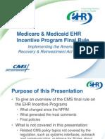 CMS EHR Incentive Program Agency Training v8-20
