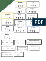 000 Etiquetas Colores Pendulo Hebreo Armonizacion.
