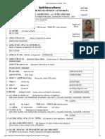 Dda Aawasiya Yojana - 2017 Application Form