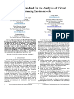 Pedagogical Standard for the Analysis of Virtual Learning Environments