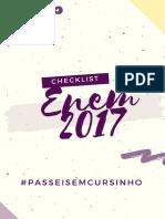 Checklist Enem 2017