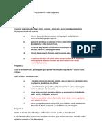 Questionário Interpretação Texto Unip e Respostas