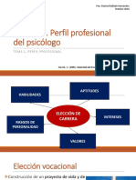 Perfil Profesional Del Psicólogo