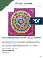 Pinkmambo.com-Dream Circle 12 Crochet Square and Mandala