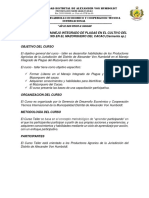 Programacion Curso Taller Mazorquero Del Cacao 2017