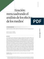 Mediatización- Reencuadrando El Análisis de Los Efectos de Medios