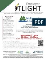 Employer Spotlights September 2017