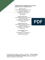 Processo Estrategico de Marketing e Plano de Marketing Para o Agronegocio
