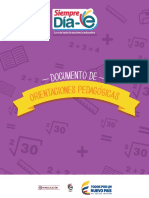 Orientaciones Pedagógicas Lenguaje y Matemáticas
