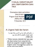 Hukum Halal Haram Dalam Makanan Obat Obatan Dan Ppt