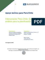Interconexión Entre Perú y Chile - Estudio de Análisis Para La Planificación
