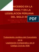 El Concebido en La Legislacion Peruana