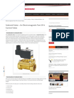 Solenoid Valve - An Electromagnetic Part of a Control Valve