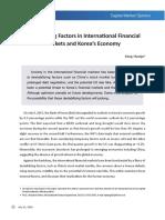 Destabilizing Factors in Fin. Markets