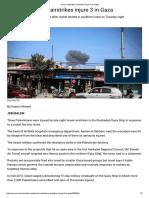 Israeli Retaliatory Airstrikes Injure 3 in Gaza