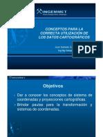 Proyección CARTOGRÁFICA  INGEMMET 2011.docx