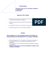 Preparatory Course for ITIL Foundation Certification