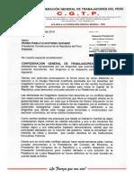 CGTP Carta Al Presidente Por Magisterio 16082017