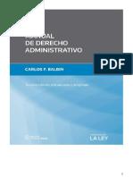 Manual de Derecho Administrativo. 3º edicion. 2015. Carlos Balbin.pdf