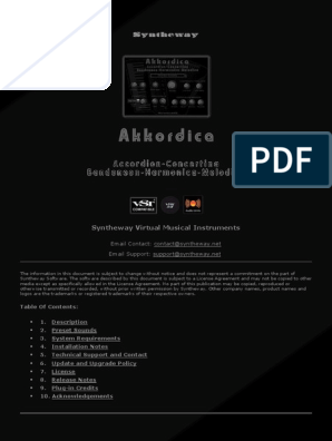 Akkordica Virtual Accordion, Concertina, Bandoneon
