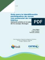 Matus Et Al 2009 Guia Para La Identificacion Participativa de Zonas Con Potencial de Recarga Hidrica Aplicacion Practica en La Subcuenca Del Rio Jucuapa Nicaragua