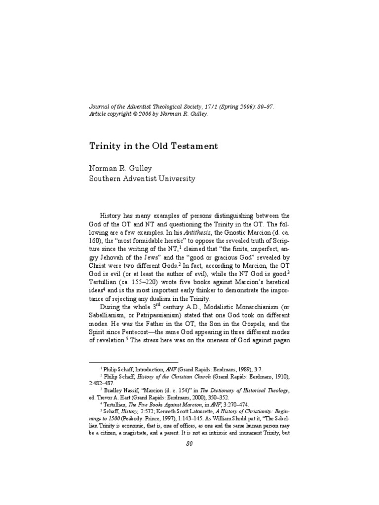 Trinity in the Old Testament pdf | Jacob | Trinity