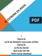 Fe Extrema en Jesús (1)