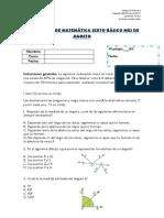 Prueba de Matematica AGOSTO