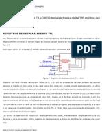 Registros de Desplazamiento TTL y CMOS