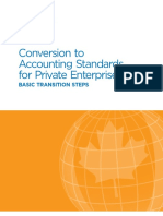 Conversion to Accounting Standards for Private Enterprises Basic Transition Steps July 2015