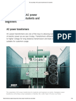 The Essentials of AC Power Transformers for Students