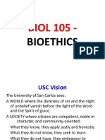 1 - Biology 105 - Intro