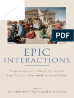 M. J. Clarke, B. G. F. Currie, R. O. a. M. Lyne Epic Interactions Perspectives on Homer, Virgil, And the Epic Tradition Presented to Jasper Griffin by Former Pupils (1)