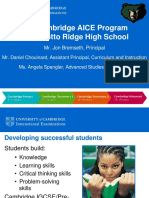 the cambridge aice program at palmetto ridge high school